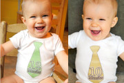 baby tie stickers for baby suits