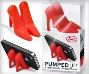 pumped up high heel red iphone stand