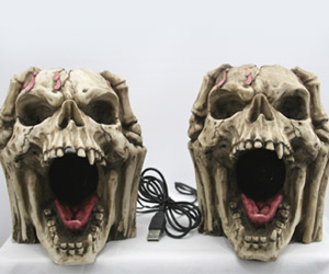 skeleton skull head speakers
