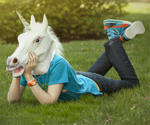 Unicorn Horse head mask