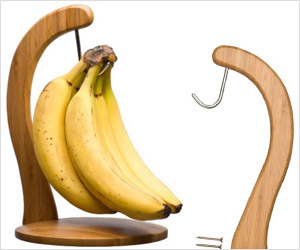 eco friendly green bamboo banana hanger