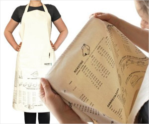 apron with printed cooking guides