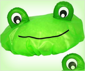 frog shape shower cap
