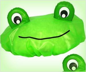 frog shape shower cap