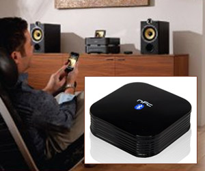nfc enabled bluetooth audio receiver for music playback from mobile phone