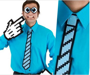 neck tie with pixelated design