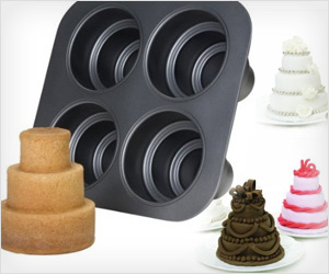3 tier levels cake pan