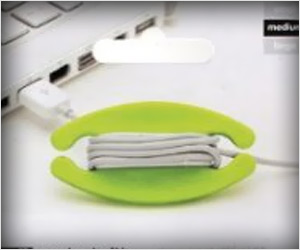 organize tangled cable by wrapping around cord wrap