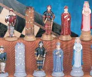 hand painted chess set characters