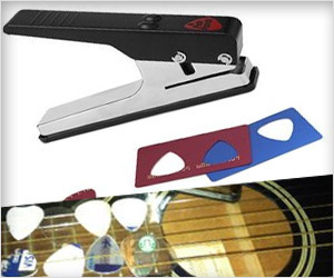 puncher to make guitar picks from old credit cards