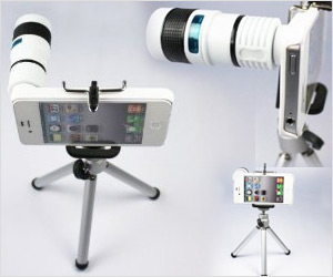 zoom lens with tripod for iphone