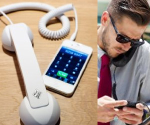retro landline phone handle for iphone