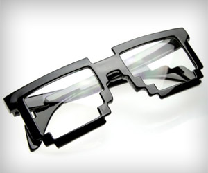 pixel design glasses for nerdy look