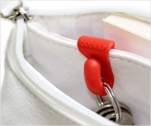 clip to store keys inside purse or handbag