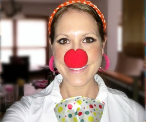 clown nose of red color for party fun