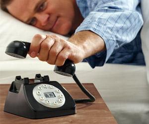 landline telephone alarm clock