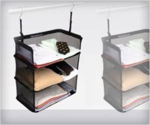 mesh shelves to pack clothes quickly