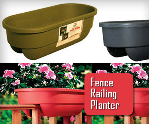 planter box for fence railing for growing small flower plants