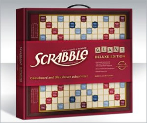 huge scrabble game made of wood - big size