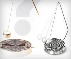 pendulum or spiral like magnetic decision maker for office desk