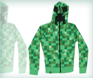 full face minecraft inspired hoodie for kids