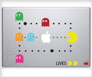 full scene pac man game sticker for macbook