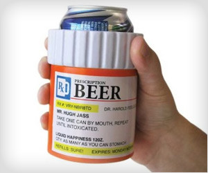 Pills Bottle Drink Cooler
