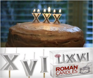 birthday candles with roman numerals for older people