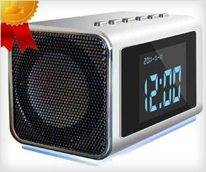 digital clock with spy camera & LCD screen to watch recorded videos