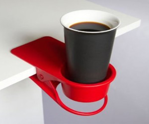 clip holder for table for keeping drink cups, phone and other small items