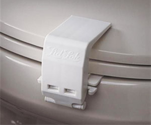 lock for toilet seat cover and bowl