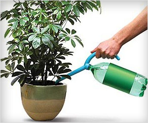 make used bottles water pourer for plants