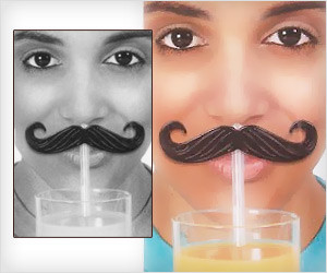 Mustache Straw Clips