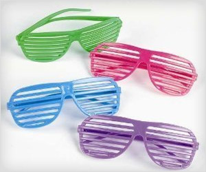 Shutter Shade Sunglasses for 80's party fun