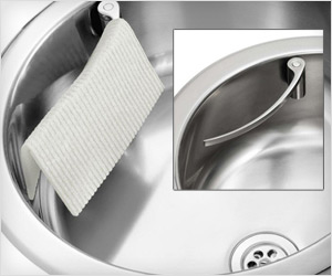 dish towel cloth and rag holder for stainless steel sink