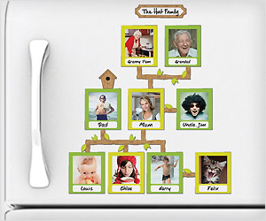 Show family tree photo frames as fridge magnets - Simple ways of keeping your home organized using magnetic picture frames ...