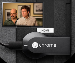 Google Chromecast HDMI drive to watch online videos on tv