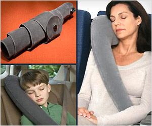inflated travel pillow for arm like support during travel