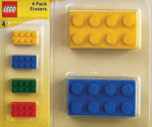 erasers for kids in shape of lego