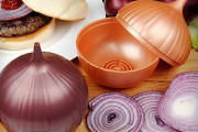 store cut onion slices in onion saver to keep fresh and prevent odors