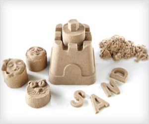 non sticky play sand to make castle shapes figures