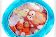 stuffed toys storage mesh bag