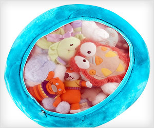 stuffed toys storage mesh bag