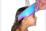 head guard to prevent water splashing on kid face