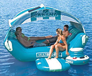big inflatable water lounge for party fun