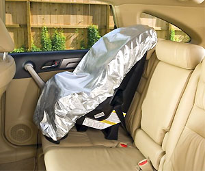 baby car seat cover to protect from heat