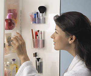 cosmetics organizer for makeup items storage