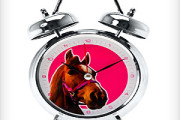 alarm clock with animal sound of horse, rooster, cat, pig