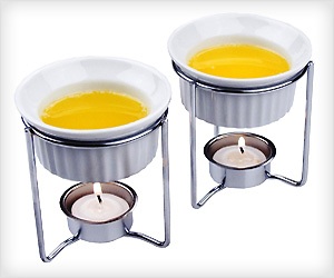 butter warmers for melted butter to eat seafood throughout dinner