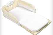 Portable Infant Sleeper for baby safety sleeping on regular bed with mother